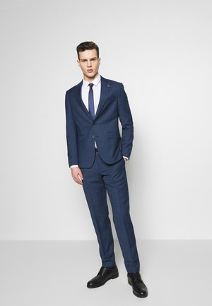 SLIM FIT FAKE SOLID SUIT - Oblek - blue
