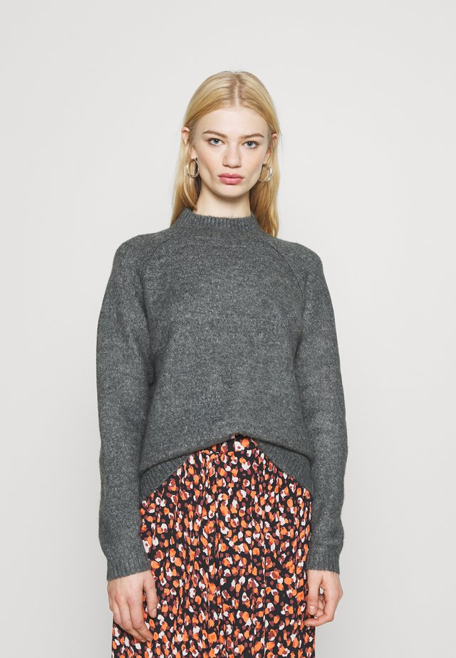 JDYROSSA HIGHNECK RAGLAN - Stickad tröja - dark grey