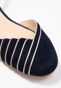 Anna Field - LEATHER - Ankle strap ballet pumps - dark blue - 2