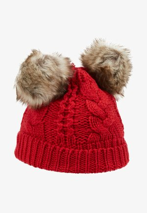 TODDLER GIRL CABLE HAT - Čepice - modern red