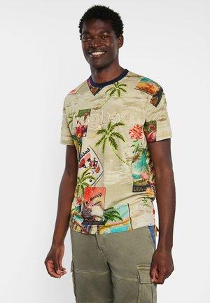 CATON - T-shirt med print - brown