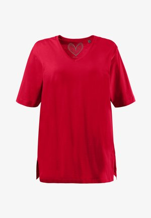 BASIC, RELAXED FIT - Print T-shirt - mohn