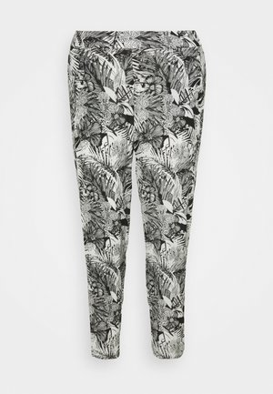 CRINKLE TROUSERS - Trousers - black
