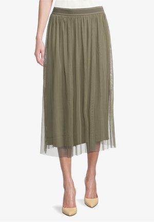 A-line skirt - pale khaki