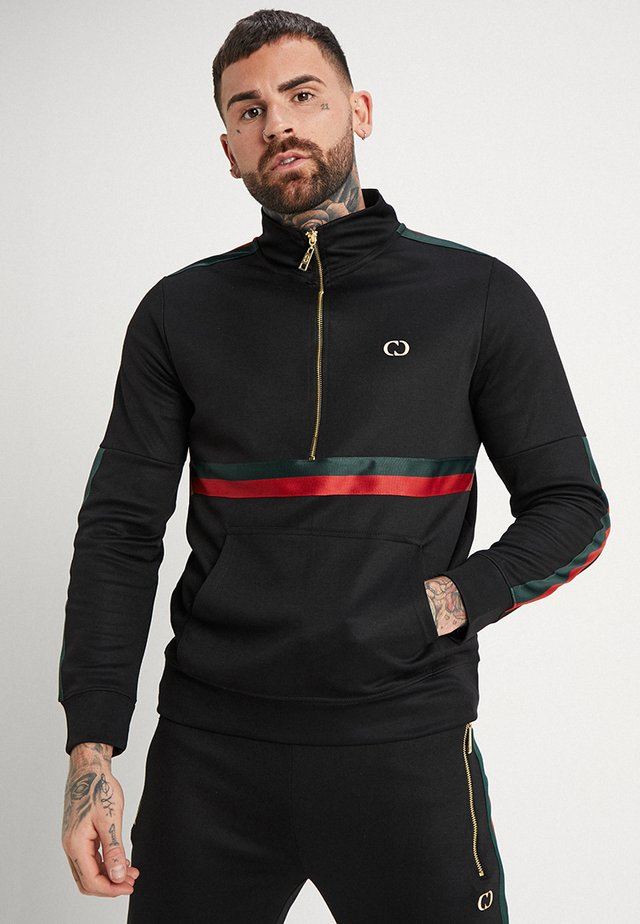 WISE TRACK  - Sweatshirt - black/red