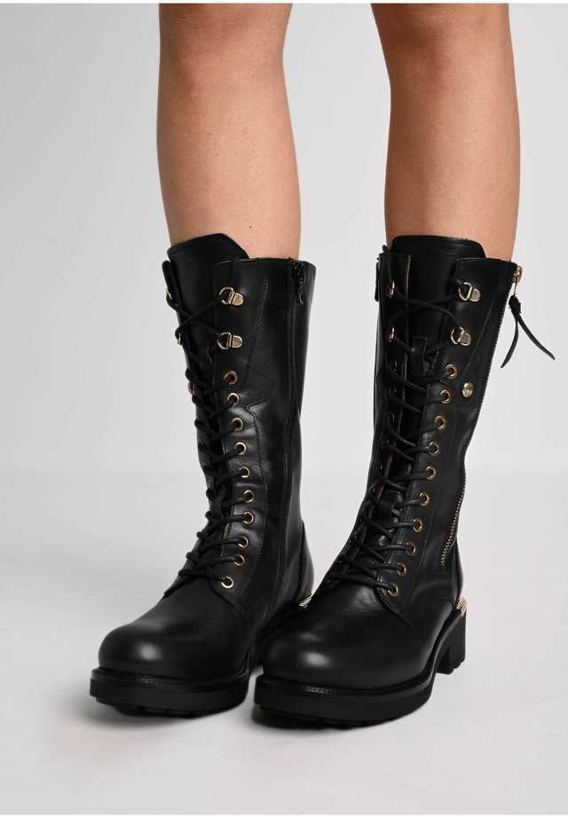 Lace-up boots - nero