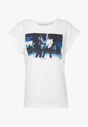 VISBY I WANT TO DANCE - Print T-shirt - white