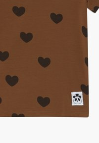 Mini Rodini - HEARTS TEE - Print T-shirt - brown - 2