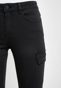 Noisy May - NMLUCY UTILITY PANTS - Trousers - black - 5