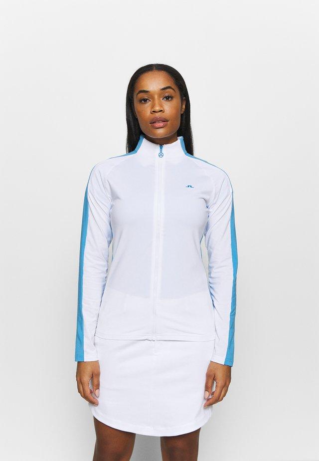 MARIE FULL ZIP MID LAYER - Sportovní bunda - white