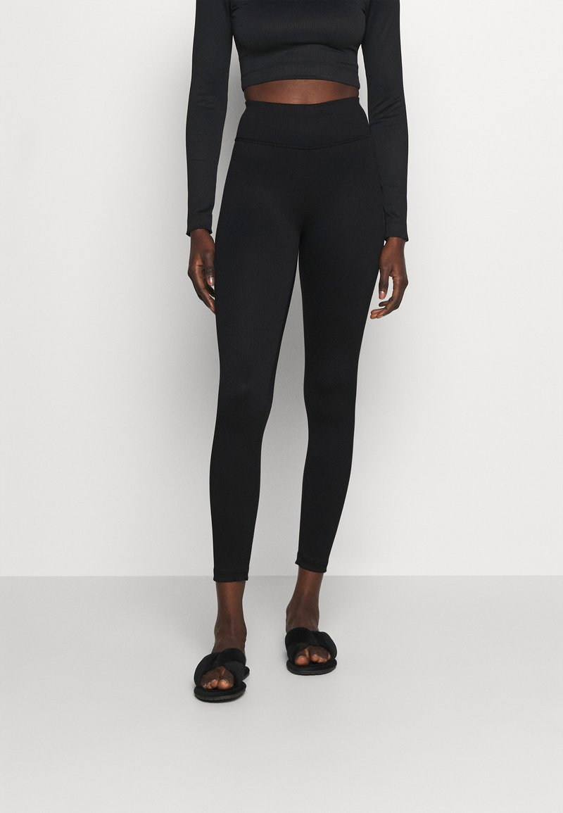 Gina Tricot - YARA LEGGINGS - Pyjama bottoms - black