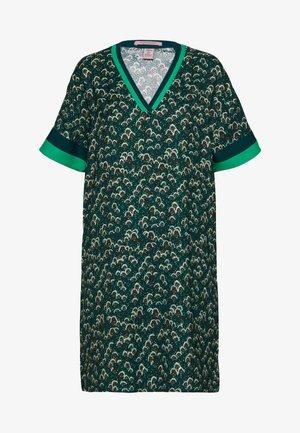 WITH COLOURBLOCK DETAILS - Day dress - dark green/black