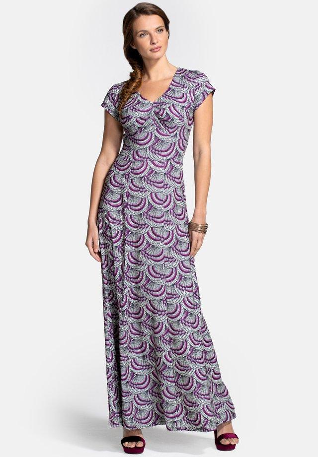 Robe longue - purple kimono print