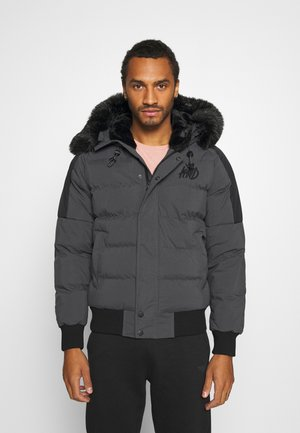 PUFFER BOMBER JACKET - Giacca invernale - charcoal