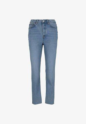 Straight leg jeans - used mid stone blue denim