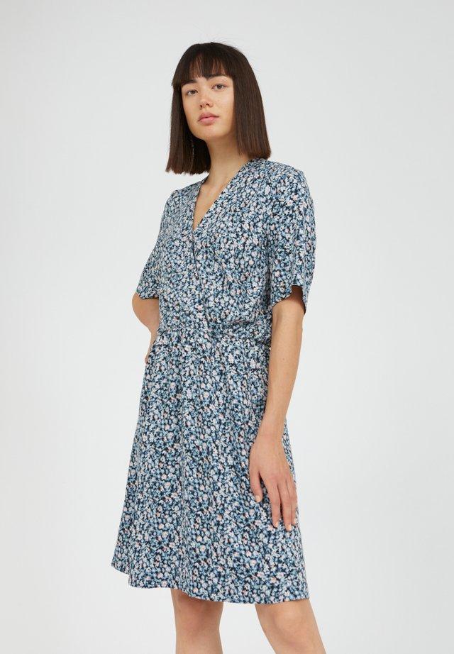 Korte jurk - foggy blue