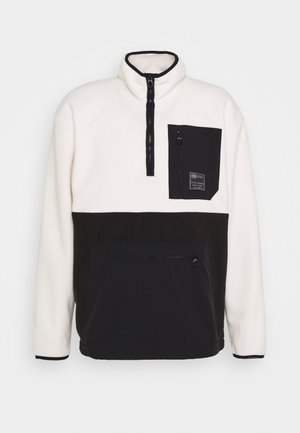 HALF ZIP WITH POCKETS - Felpa in pile - combo