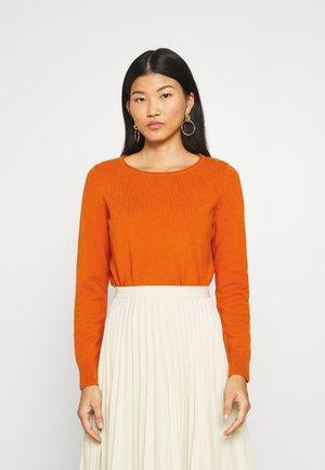 Strickpullover - pumpkin orange