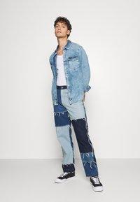 Jaded London - PATCHWORK SKATE - Straight leg jeans - blue - 1