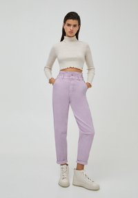 PULL&BEAR - PAPERBAG - Relaxed fit jeans - purple - 1