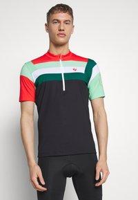 Ziener - NEPUMUK - Print T-shirt - black/fresh mint - 0