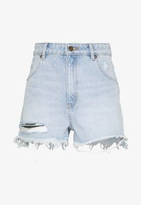 Rolla's - DUSTERS - Denim shorts - bleached denim, destroyed denim