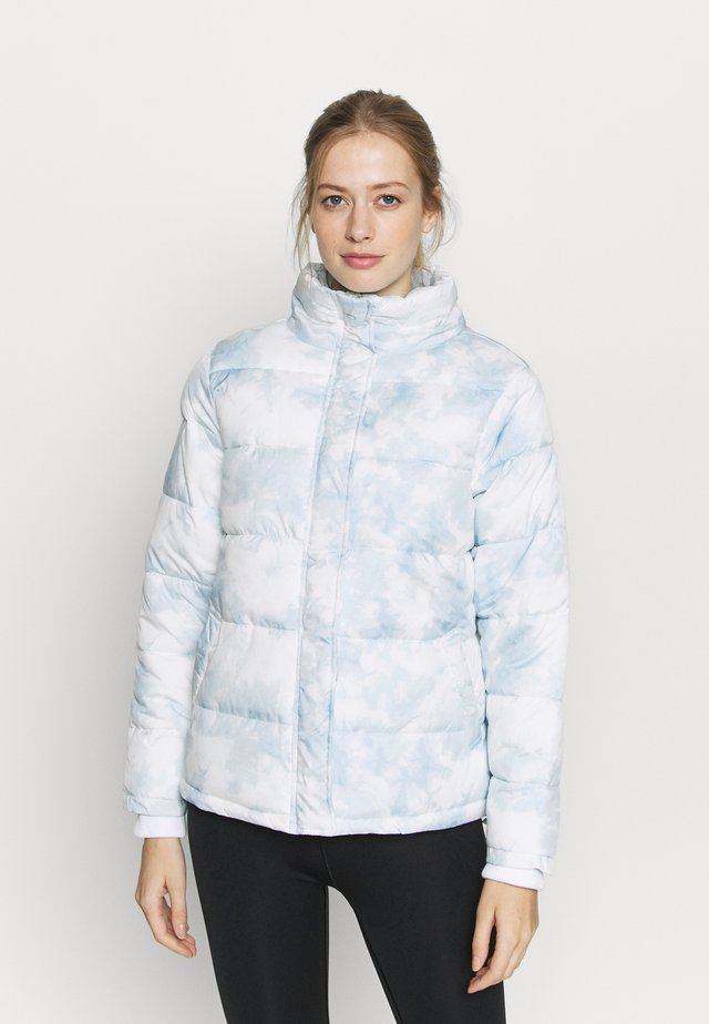 THE MOTHER PUFFER - Giacca invernale - baby blue tie die