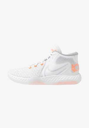 KD TREY 5 VIII  - Basketball shoes - white/pure platinum/total orange/wolf grey/cool grey