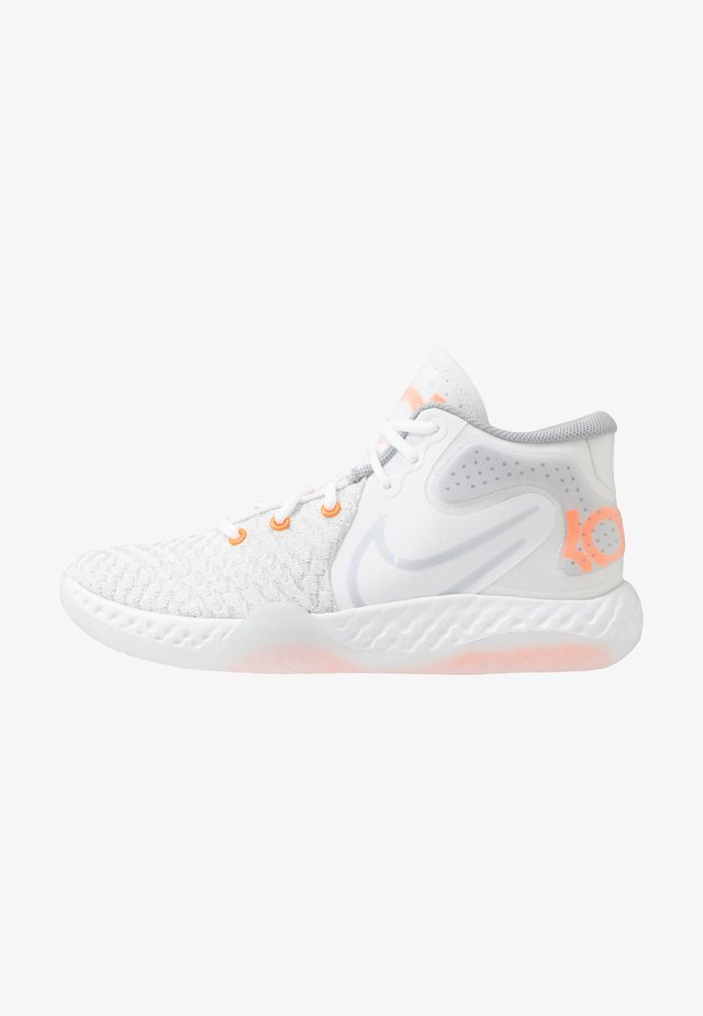 KD TREY 5 VIII  - Obuwie do koszykówki - white/pure platinum/total orange/wolf grey/cool grey