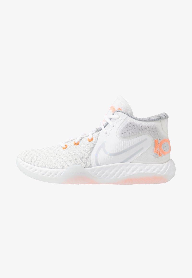 Nike Performance - KD TREY 5 VIII  - Basketball shoes - white/pure platinum/total orange/wolf grey/cool grey
