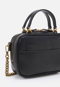 Pinko - LOVE MINI SQUARE SIMPLY ANTIQUE - Across body bag - black - 5