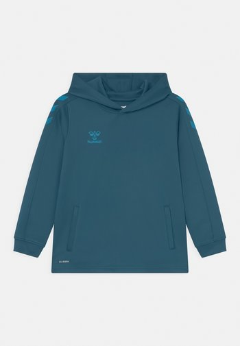 CORE POLY HOODIE UNISEX - Long sleeved top - blue coral