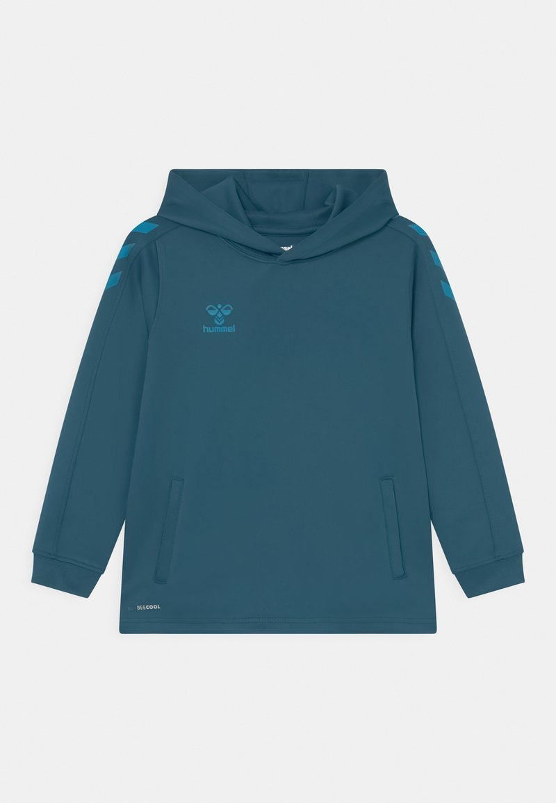 Hummel - CORE POLY HOODIE UNISEX - Long sleeved top - blue coral