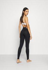 Calvin Klein Underwear - WOMEN LOGO MASON - Leggings - Stockings - black / white - 2