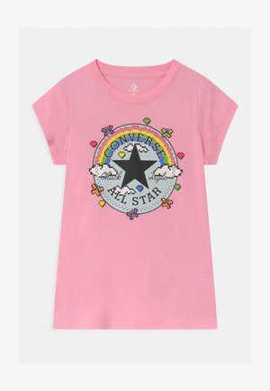 GAMER GIRL CHUCK PATCH - Print T-shirt - just pink