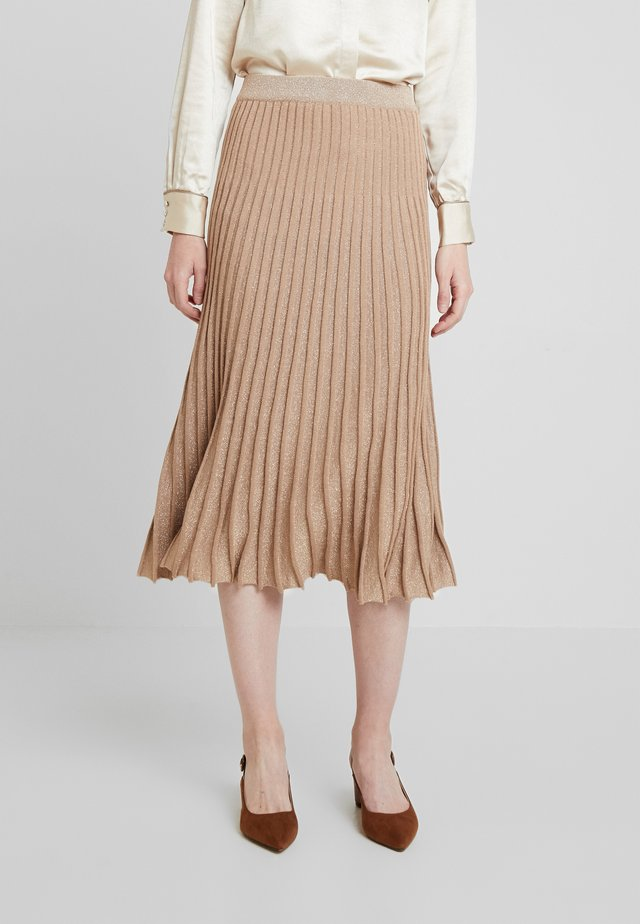 OAKLAND - A-line skirt - beige