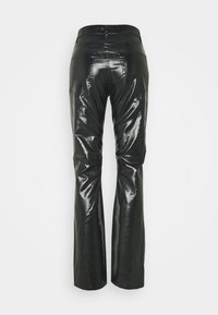 Weekday - RALPH COATED TROUSERS - Trousers - washed black - 1