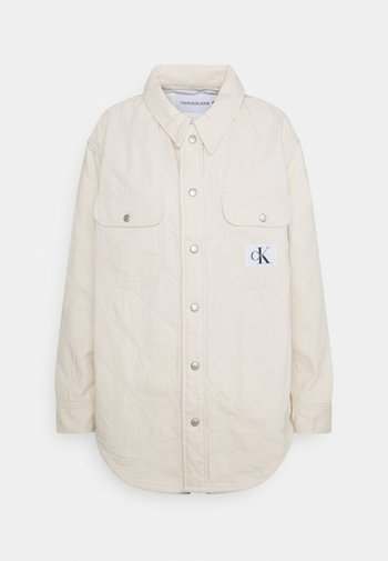 PADDED SHIRT JACKET - Short coat - denim light