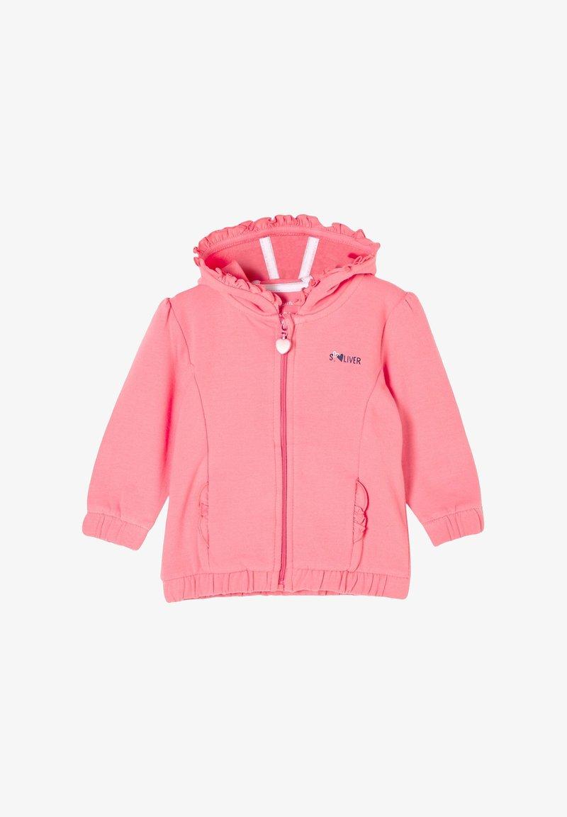 s.Oliver - JAS - Zip-up sweatshirt - light pink