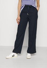 Marks & Spencer London - WIDE LEG - Trousers - dark blue - 0
