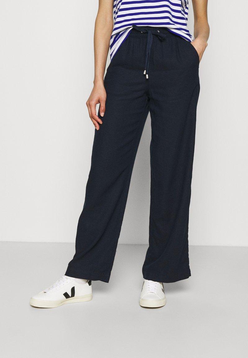 Marks & Spencer London - WIDE LEG - Trousers - dark blue