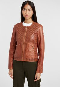 Gipsy - Leather jacket - cognac - 0