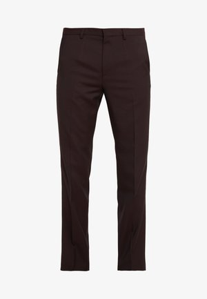 HESTEN - Suit trousers - dark red