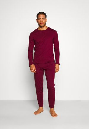 2 PACK - Pyjamasbyxor - dark blue/bordeaux