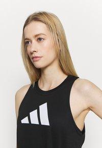 adidas Performance - LOGO TANK - T-shirt sportiva - black/grey four/white - 3
