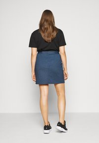 Even&Odd Curvy - A-line skirt - dark denim - 2
