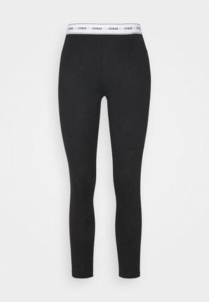 LEGGINGS - Pyjama bottoms - jet black