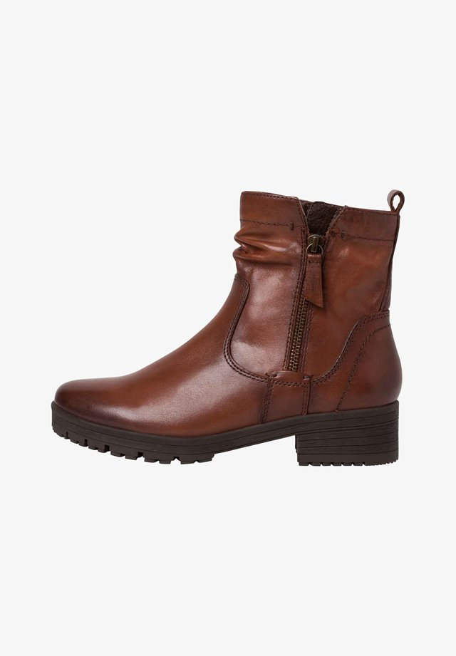 STIEFELETTE - Ankle boots - cognac