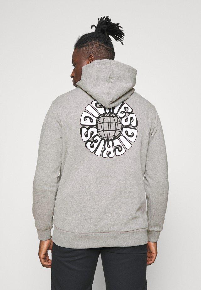 GLOBE HOODIE - Sweater - grey melange