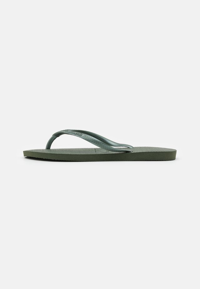 SLIM FIT - Pool shoes - olive green